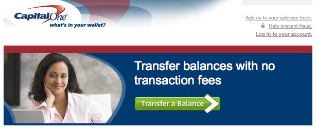 capital one balance transfer