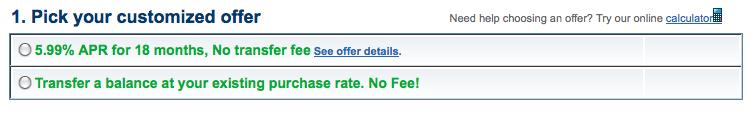 no fee offer