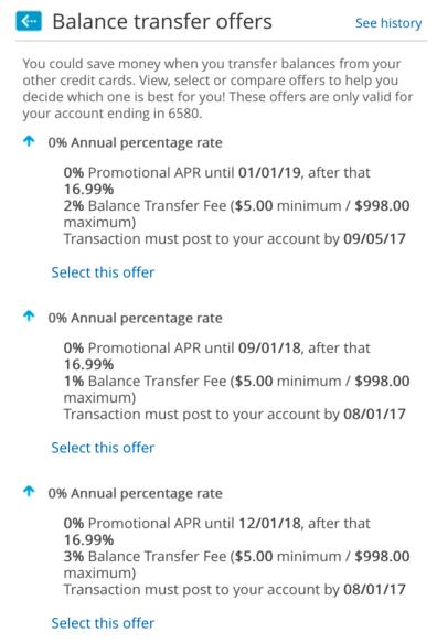 barclaycard balance transfers